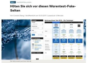 Fake Test Nischenseiten Artikel