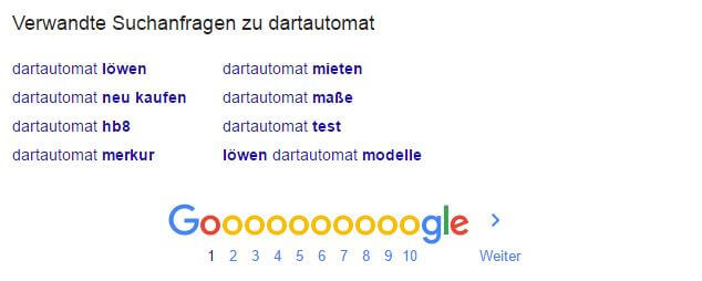 Google Suggest Daten - unten