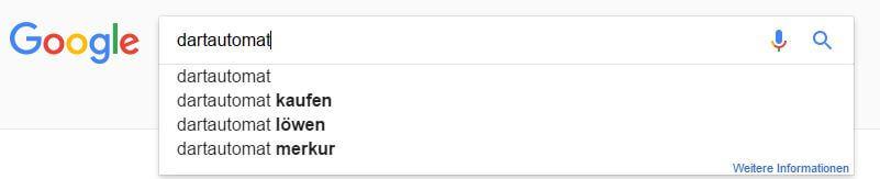 Google Suggest Daten - oben