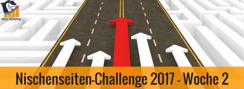 Nischenseiten-Challenge 2017 - Woche 2