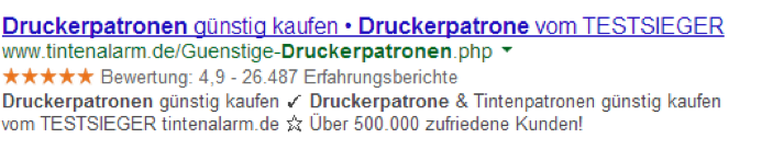 Meta Description von tintenalarm.de